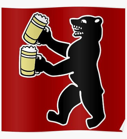 ours berlin beer Bier bear Poster