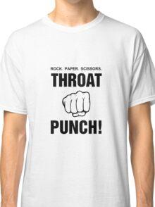 Rock Paper Scissors Throat Punch! Classic T-Shirt