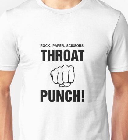 Rock Paper Scissors Throat Punch! Unisex T-Shirt