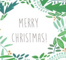 Merry Christmas Wreath Doodle! Sticker