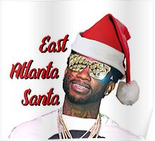 Gucci Mane East Atlanta Santa Christmas Poster