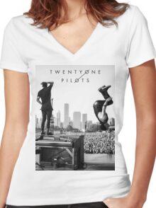 twenty one pilots Women's Fitted V-Neck T-Shirt