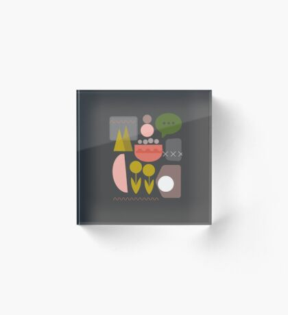 Night Garden Acrylic Block