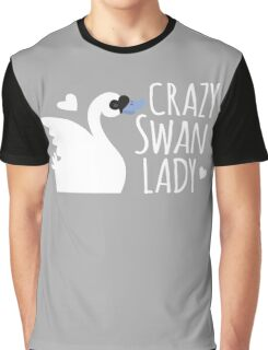 Crazy Swan Lady Graphic T-Shirt
