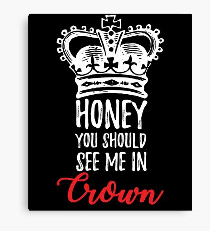 See me In Crown Canvas Print
