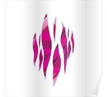 Dedsec Graffiti Spray Custom Pink Poster