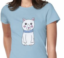 Cute Girly Christmas Holiday Polar Bears Womens Fitted T-Shirt