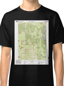 USGS TOPO Map California CA Willow Creek 102563 1997 24000 geo Classic T-Shirt