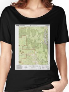 USGS TOPO Map California CA Willow Creek 102563 1997 24000 geo Women's Relaxed Fit T-Shirt