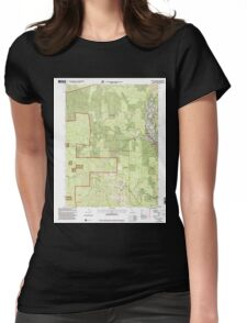 USGS TOPO Map California CA Willow Creek 102563 1997 24000 geo Womens Fitted T-Shirt