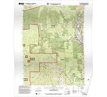 USGS TOPO Map California CA Willow Creek 102563 1997 24000 geo Poster