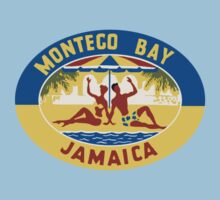 Montego Bay Jamaica Vintage Travel Decal Kids Tee