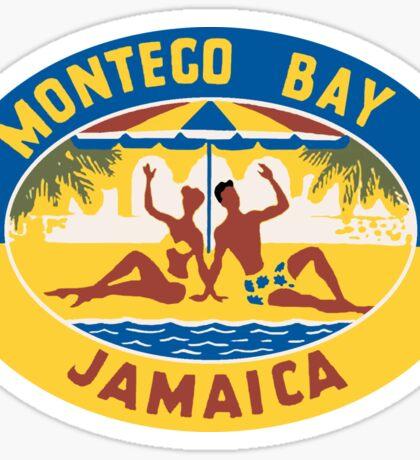 Montego Bay Jamaica Vintage Travel Decal Sticker
