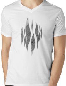 Dedsec Graffiti Spray Custom Grey Mens V-Neck T-Shirt