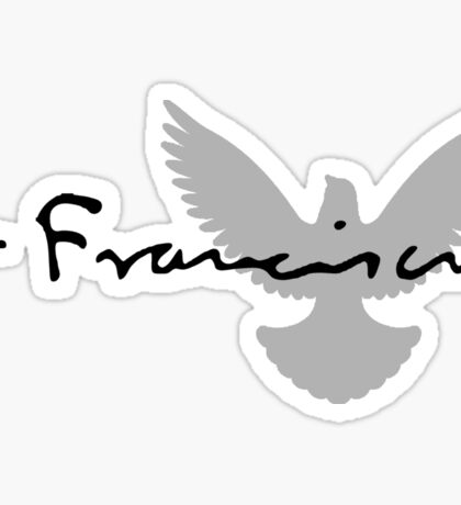 Pope Francis Signature Dove Sticker