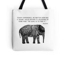 Buddha Wisdom Elephant Tote Bag