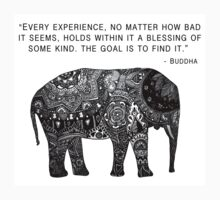 Buddha Wisdom Elephant Kids Clothes