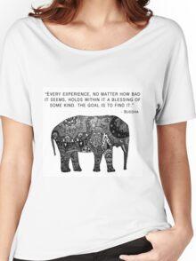 Buddha Wisdom Elephant Women's Relaxed Fit T-Shirt
