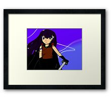 Anime swordfighter Framed Print
