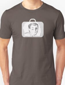 Guy in a piece of luggage Unisex T-Shirt