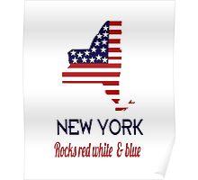 New York Rocks Red White & Blue Poster