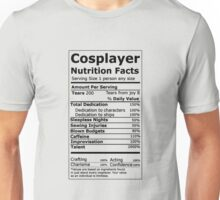 Cosplayer Nutrition Facts Unisex T-Shirt