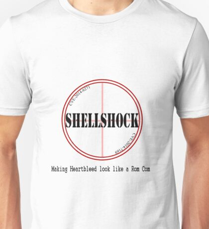 Shellshock making heartbleed look like a rom com Funny Shirt Unisex T-Shirt
