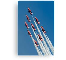 Red Arrows - Diamond Roll Canvas Print