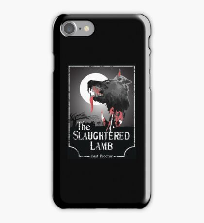 American Werewolf In London - The Slaughtered Lamb Bloody iPhone Case/Skin