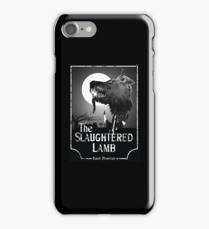 American Werewolf In London - The Slaughtered Lamb B&W iPhone Case/Skin