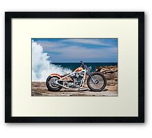 Kyle Smith's Custom Harley Chopper Framed Print