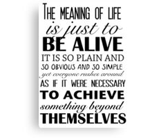 Meaning of Life Canvas Print