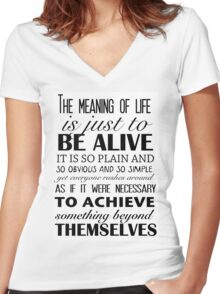 Meaning of Life Women's Fitted V-Neck T-Shirt