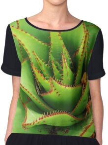 Prickly Green  Chiffon Top