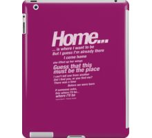 "Talking Heads Lyrics - ""This Must Be The Place (Naive Melody)"" iPad Case/Skin"