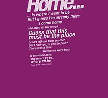 "Talking Heads Lyrics - ""This Must Be The Place (Naive Melody)"" by buud"