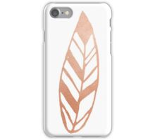 Rose gold feather iPhone Case/Skin