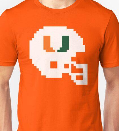 Miami Hurricanes 8-bit Helmet Unisex T-Shirt