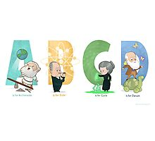 Science ABC Photographic Print