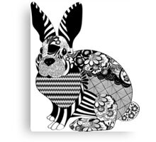 CRAZY RABBIT Canvas Print