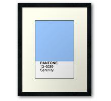 PANTONE serenity Framed Print