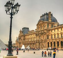 The Lamppost  & The Louvre by Michael Matthews