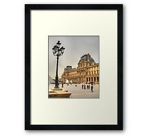 The Lamppost  & The Louvre Framed Print