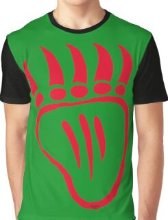 Native American Bear Foot Red Graphic T-Shirt