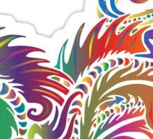 Rainbow Dragon in White Sticker