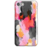 pink orange and black painting texture abstract background iPhone Case/Skin