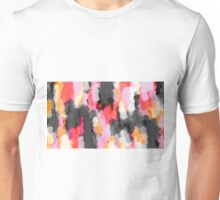 pink orange and black painting texture abstract background Unisex T-Shirt
