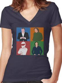 Top Gear Gang Women's Fitted V-Neck T-Shirt