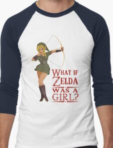 What if Zelda was a girl? (it's a joke) Men's Baseball ¾ T-Shirt