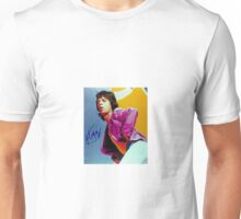 Mick Jagger Classic Autographed Photo Unisex T-Shirt